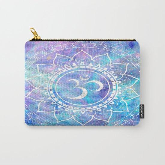 Om Mandala Pink Aqua Lavender Galaxy Space Carry-All Pouch