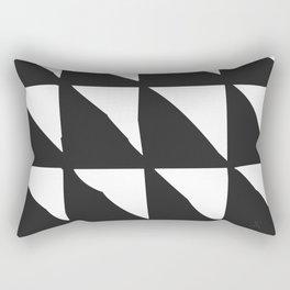Tribal Print B&W- 01 Rectangular Pillow