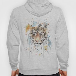"""Watercolor Painting of Picture """"Portrait of a Tiger"""" Hoody"""
