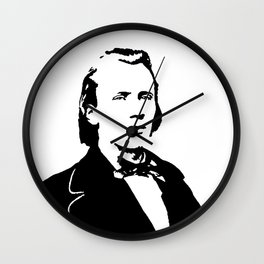 Johannes Brahms (1833 – 1897) in 1853 Wall Clock