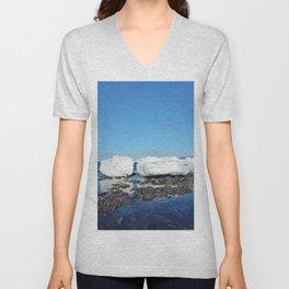 Icebergs along the Tidal shelf Unisex V-Neck