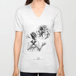 Playing irrational cards in the creation of some kind of new Mystical Symbols. Unisex V-Neck