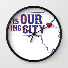 Boston Strong - This is our f***ing city - MA on light Wall Clock
