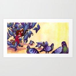 I Hate Pigeons Art Print