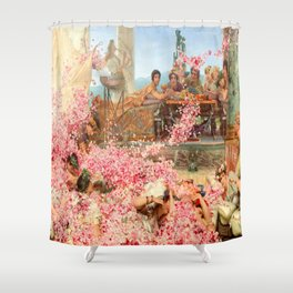 The Roses of Heliogabalus by Sir Lawrence Alma-Tadema Shower Curtain
