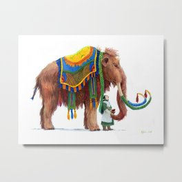 The Well Dressed Woolly Mammoth Metal Print