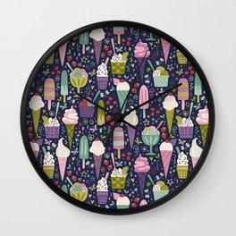 Summer Delights (dark) Wall Clock