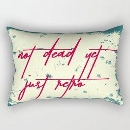 Not dead, just retro Rectangular Pillow