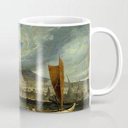 Fort Utrecht Java coast in Strait of Bali by Thomas Baines Coffee Mug