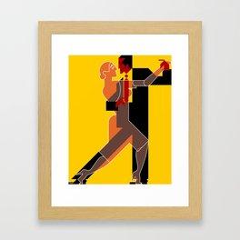 Tango dancing Framed Art Print