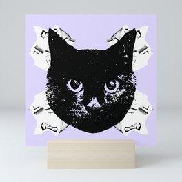 Purple Scrunch Quad Cat Mini Art Print