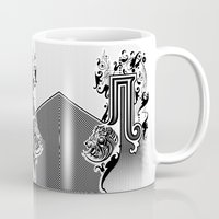 pi Mugs featuring PI by Artysmedia