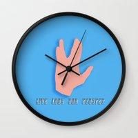 spock Wall Clocks featuring Spock by Joynisha Sumpter