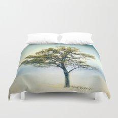 Pistachio Cotton Field Tree - Landscape Duvet Cover