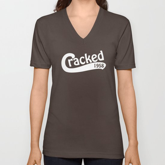 Cracked Retro Unisex V-Neck