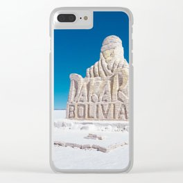 Dakar, Bolivia Monument in Salar de Uyuni, Salt Flats Clear iPhone Case