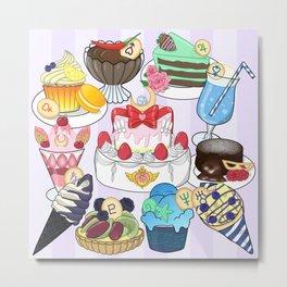 Sailor Senshi Sweets Metal Print