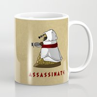 dalek Mugs featuring Assassin's Dalek by mikaelak