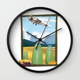 Desert and cactus Wall Clock