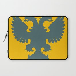 blue-gray double-headed eagle on yellow background Laptop Sleeve