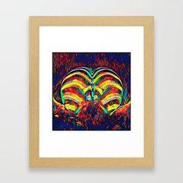 1349s-MAK Abstract Pop Color Erotica Explicit Psychedelic Yoni Buns Framed Art Print
