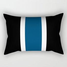 TEAM COLORS 10....NAVY AND BLACK Rectangular Pillow