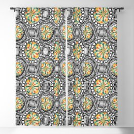 Beveled geometric pattern Blackout Curtain