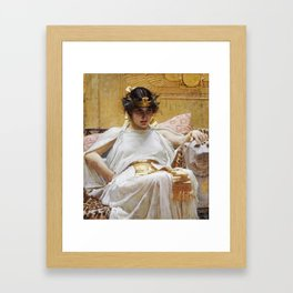 John William Waterhouse - Cleopatra Framed Art Print