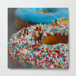 A Day at the Donut Beach. 2 Metal Print