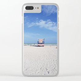 USA lifeguard tower Clear iPhone Case