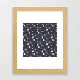 Christmas Stamps Pattern Framed Art Print