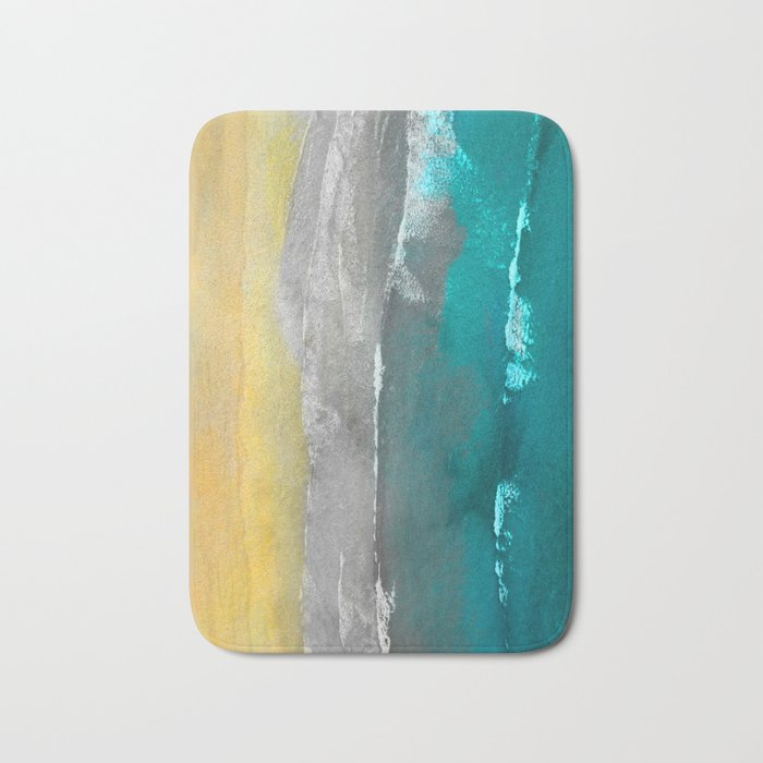 Watercolour Summer beach II Bath Mat