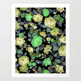 july roses & butterflies Art Print