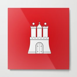 Flag of hamburg Metal Print
