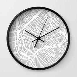 dallas city print Wall Clock