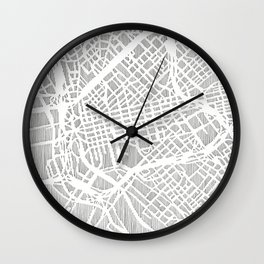 dallas city print Wall Clock