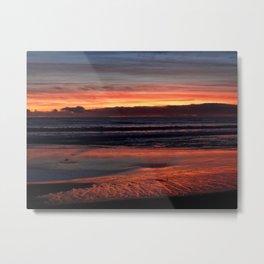 January 12 Sunset in Santa Cruz Metal Print