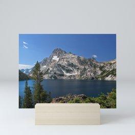 USA Sawtooth Lake, Mount Regan, State of Idaho Nature mountain Lake landscape photography Mountains Scenery Mini Art Print