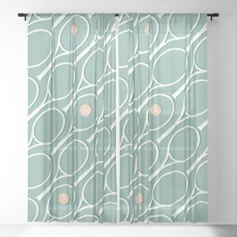 Sea Tennis #society6 #decor #buyart Sheer Curtain