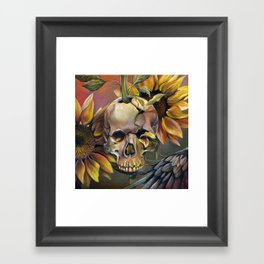 Summer Skull Framed Art Print