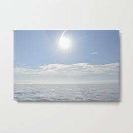 summer, could and sea in the Balearic Island Metal Print