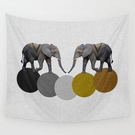 Tribal Elephants Wall Tapestry