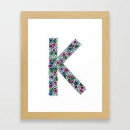 K Initial Framed Art Print