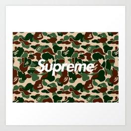 bape supreme Art Print