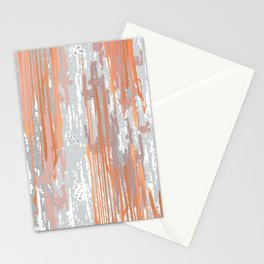 Abstract ink. Gray. metallic. orange. abstract. .minimalist. line. minimalism. lines. Stationery Cards