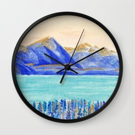 Lake Tekapo, New Zealand Wall Clock