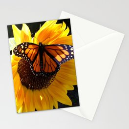 Monarch Butterfly Sunflower Stationery Cards
