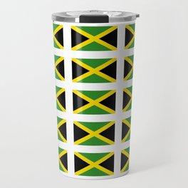 Flag of Jamaica 2-Jamaican,Bob Marley,Reggae,rastafari,cannabis,ganja,america,south america,ragga Travel Mug