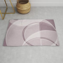 Where the Circles and Semi-Circles Meet in Musk Mauve Rug