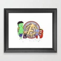 Sgt. Avengers Framed Art Print